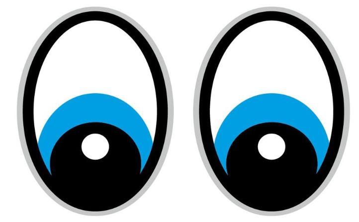 Saugroboter Sticker Augen