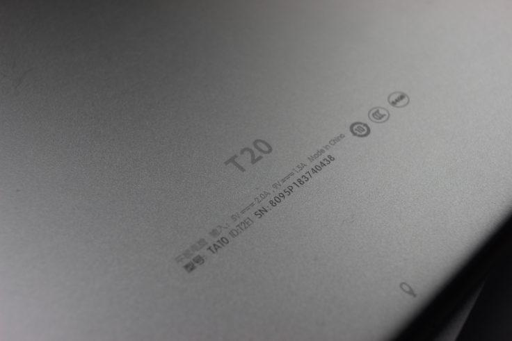 Teclast T20 Rückseite Aluminium Logo