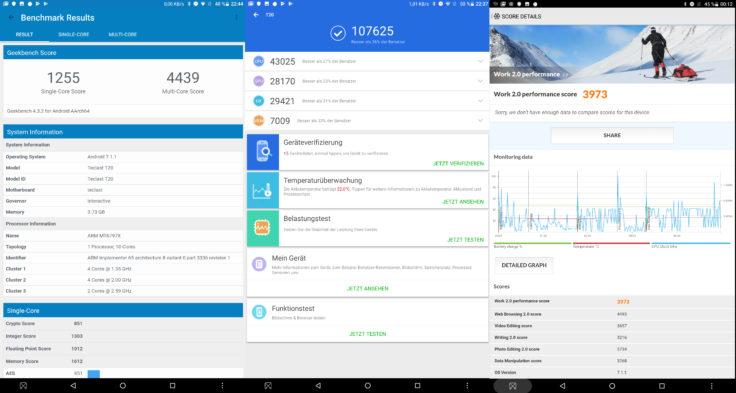 Teclast T20 Tablet Benchmarks Screenshot