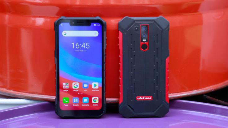 Ulefone Armor 6 Outdoor Smartphone Front und Back