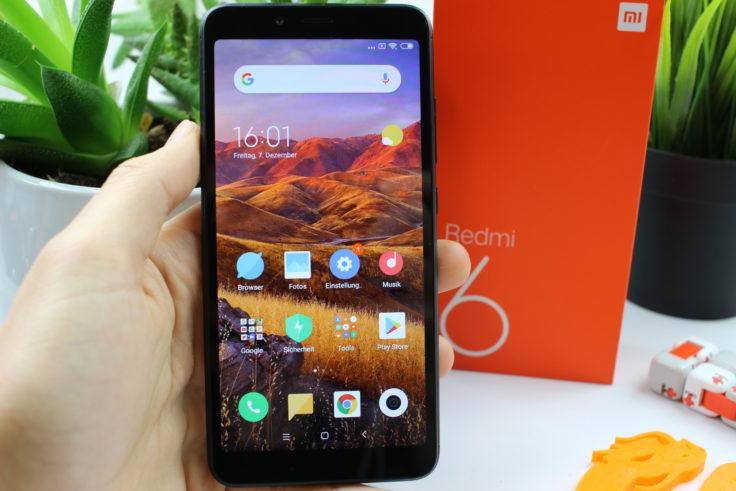 Xiaomi Redmi 6 Smartphone in Hand