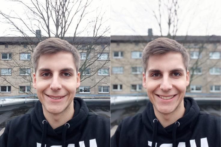 Xiaomi Redmi 6 Testfoto Frontkamera Portrait Vergleich