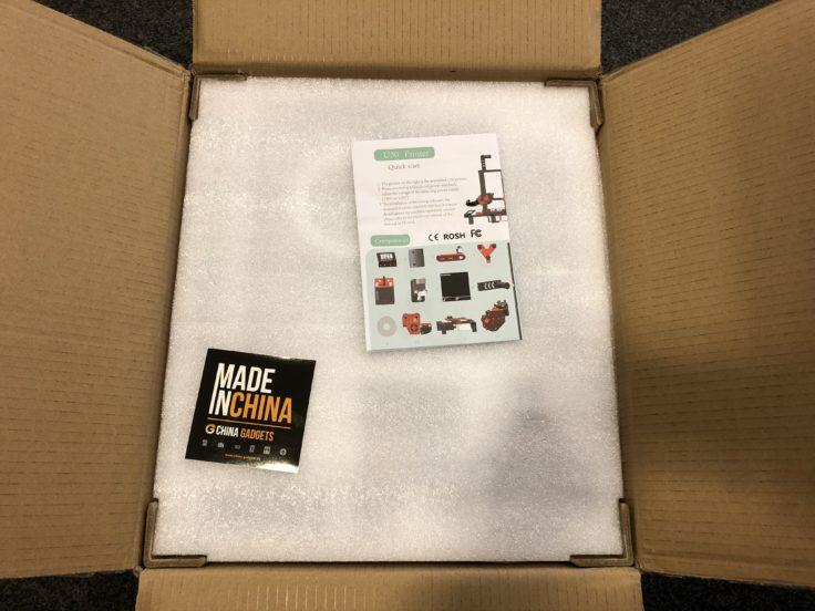 Alfawise U30 Verpackung geöffnet