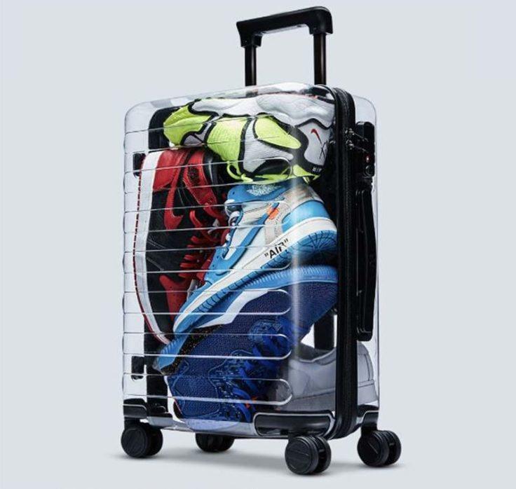 90 Fun Koffer transparent