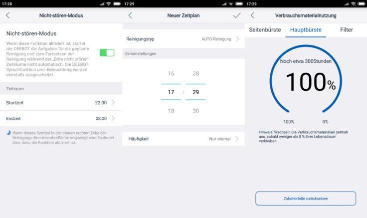 Ecovacs DEEBOT OZMO 930 Saugroboter App Einstellungen