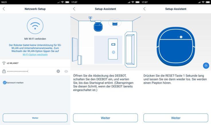 Ecovacs DEEBOT OZMO 930 Saugroboter App Verbindung WLAN