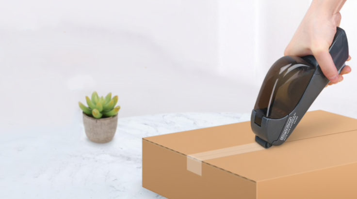 Halbautomatischer Klebebandspender Paket