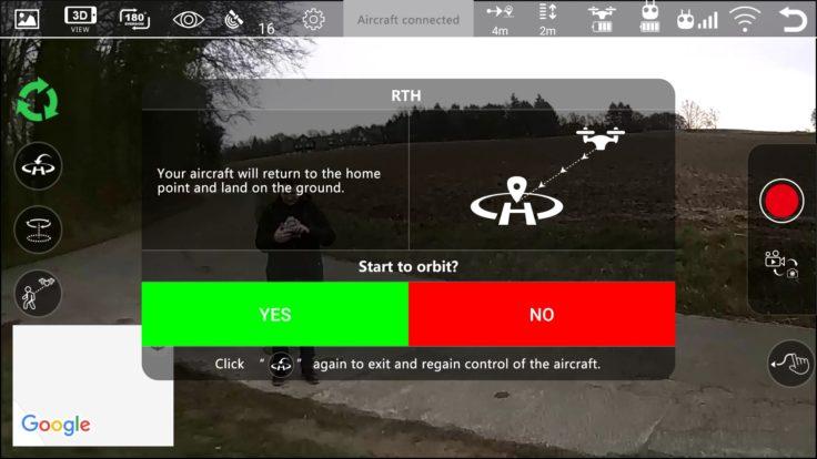 MJX Bugs 3 Pro App Screenshot RTH