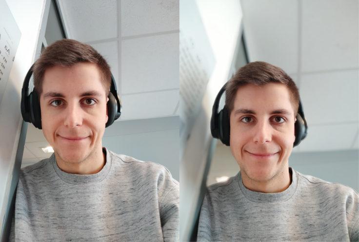 Redmi Note 7 Frontkamera Testfoto Portrait Vergleich