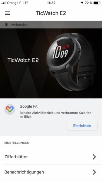 Ticwatch E2 WearOS Screenshot