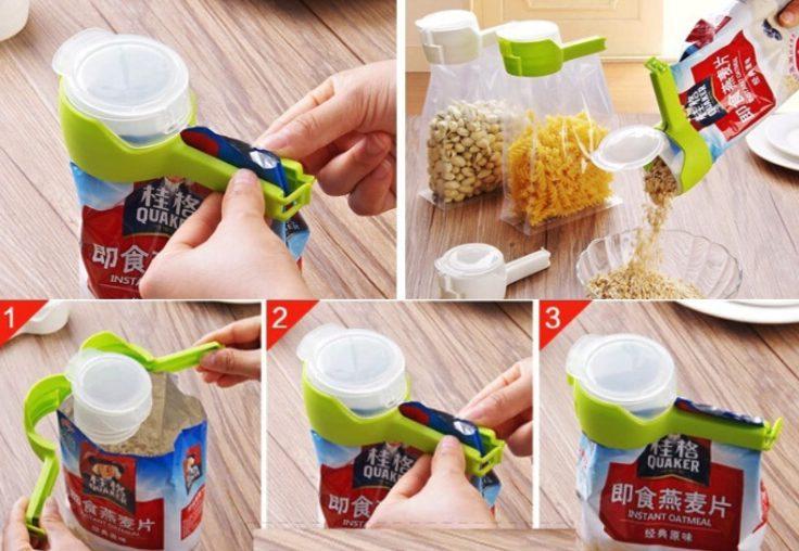 Tüten-Clip Verwendung