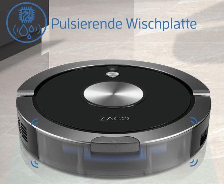 ZACO A9S Saugroboter Wischfunktion Wischplatte