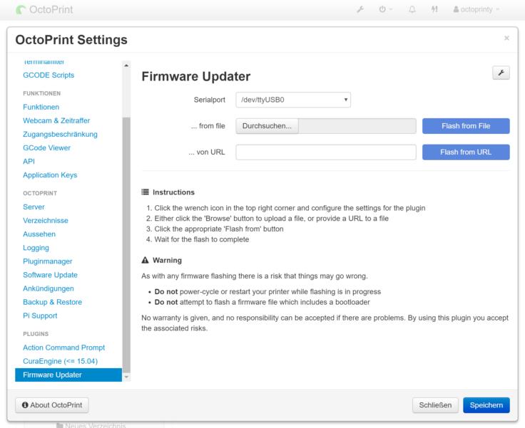 firmware-update octoprint