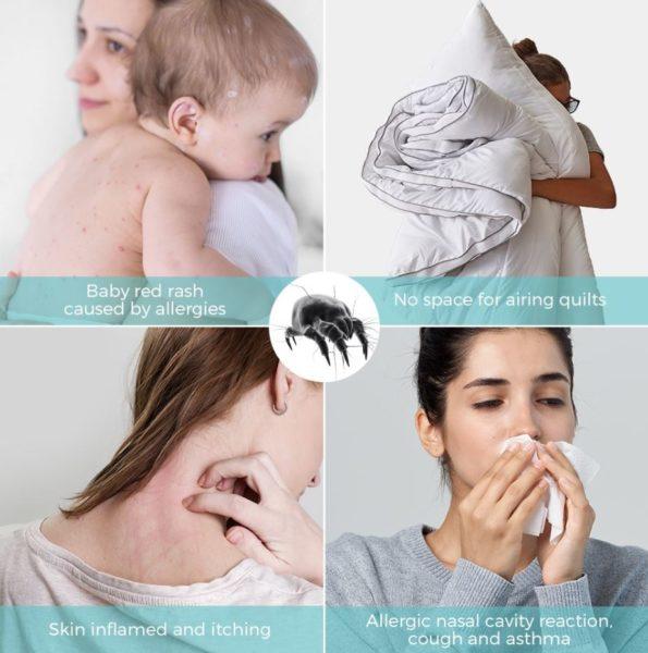 Houzetek UV-1001 Milben-Handsauger Milben Wirkung
