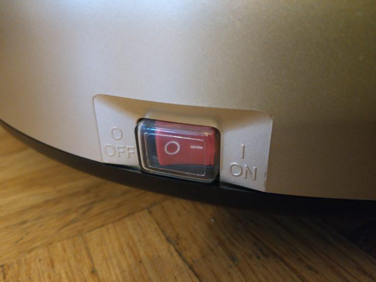 Proscenic 790T Saugroboter An-Aus-Knopf