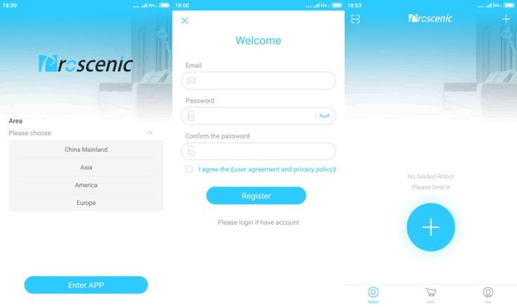 Proscenic 790T Saugroboter App Registrierung