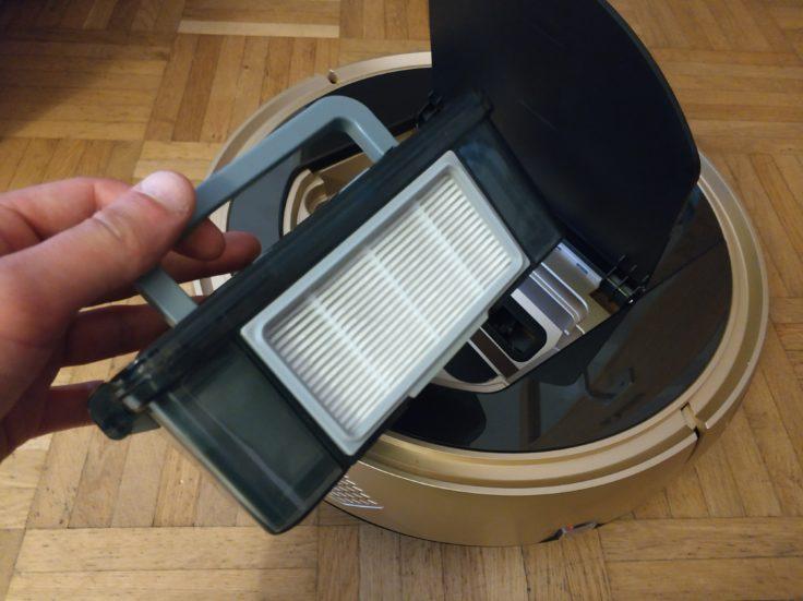 Proscenic 790T Saugroboter Staubkammer