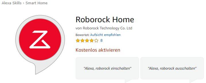 Xiaomi RoboRock S50 Saugroboter Alexa Skill