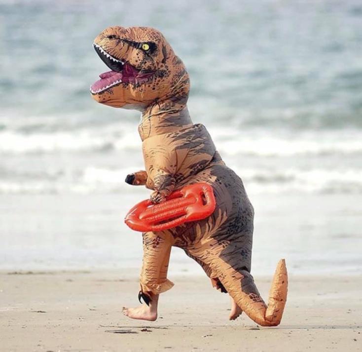 T-Rex Kostüm Strand