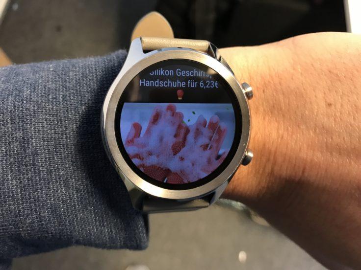 Ticwatch C2 Benachrichtigung Bild