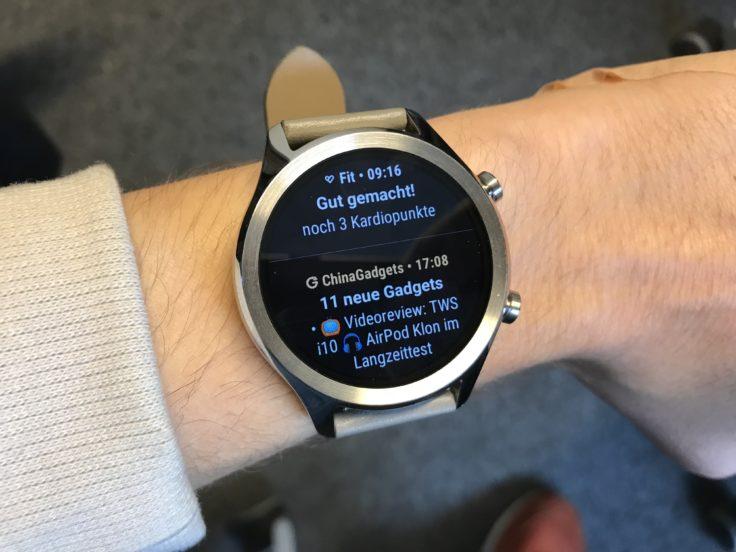 Ticwatch C2 Benachrichtigung CG