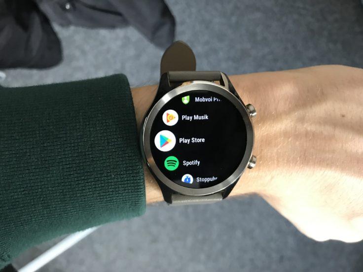 Ticwatch C2 Menü
