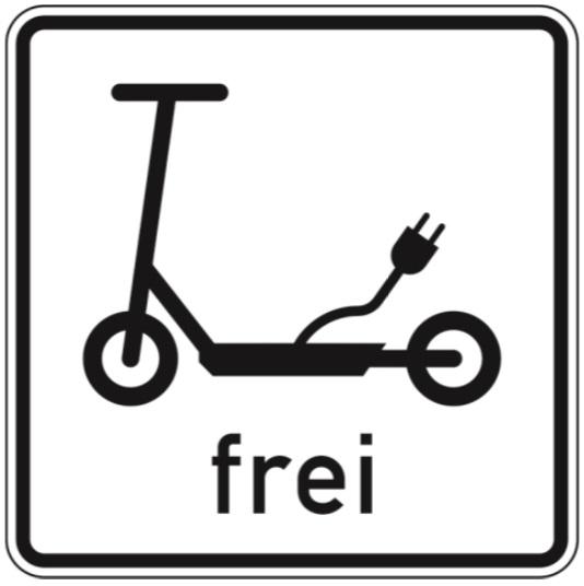 E-Scooter Verkehrszeichen Elektrokleinstfahrezeuge frei