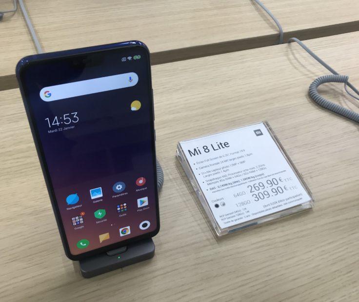 Xiaomi Mi 8 Lite Store Paris Preis