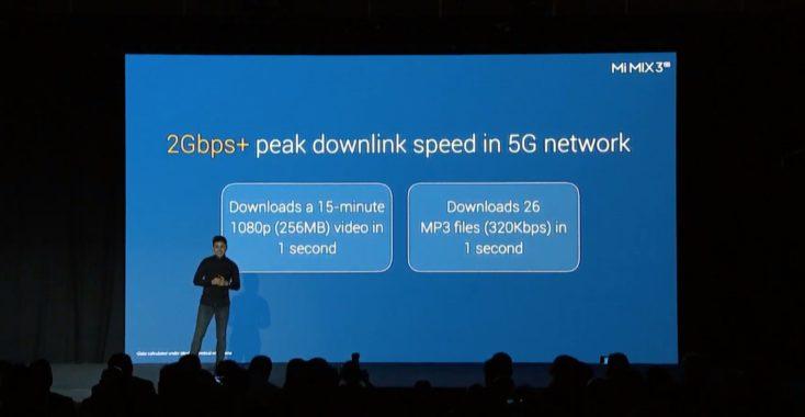 Xiaomi Mi Mix 3 5G Geschwindigkeit