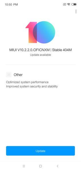 Xiaomi Mi Play MIUI 10