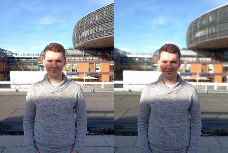 Xiaomi Mi Play Testfoto Hauptkamera Portrait Vergleich
