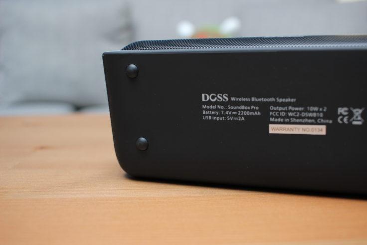 DOSS Soundbox Pro Gummifüße