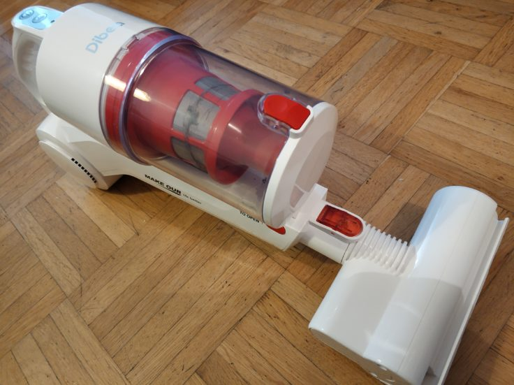 Dibea DW200 Pro Akkustaubsauger Milbenaufsatz Design