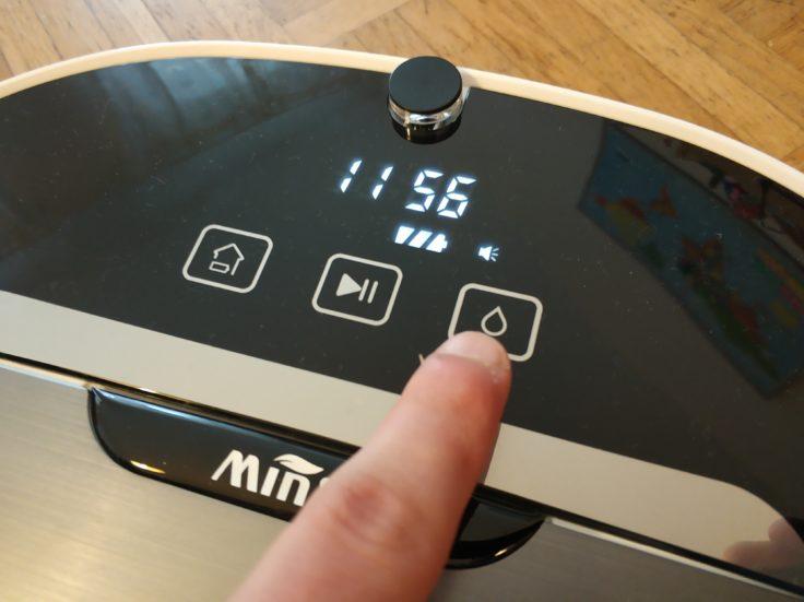 MinSu NV-01 Saugroboter Wischfunktion Button