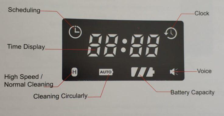 MinSu NV-01 Saugroboter Display Anzeige