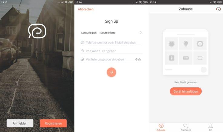 MinSu NV-01 Saugroboter WeBack App Registrierung