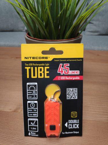 Nitecore Tube Verpackung Vorderseite