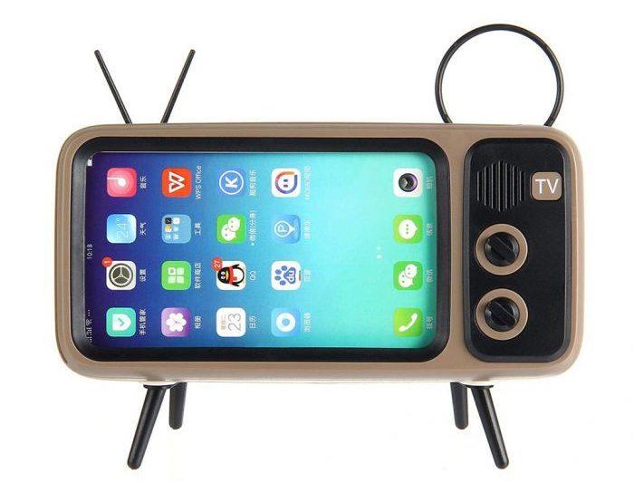 Retro Speaker und Handyhalterung (1)