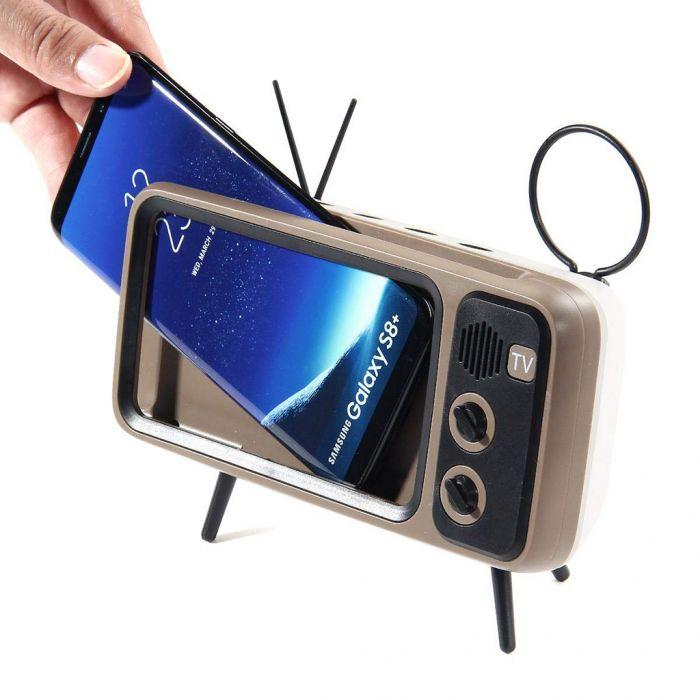 Retro Speaker und Handyhalterung (2)