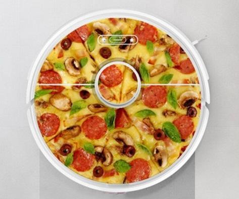 Saugroboter Sticker Roborock S6 Pizza