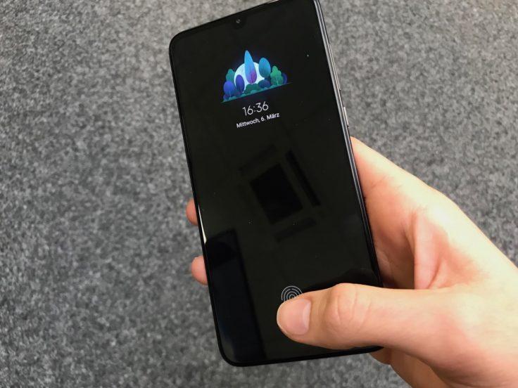 Xiaomi Mi 9 Fingerabdrucksensor im Display