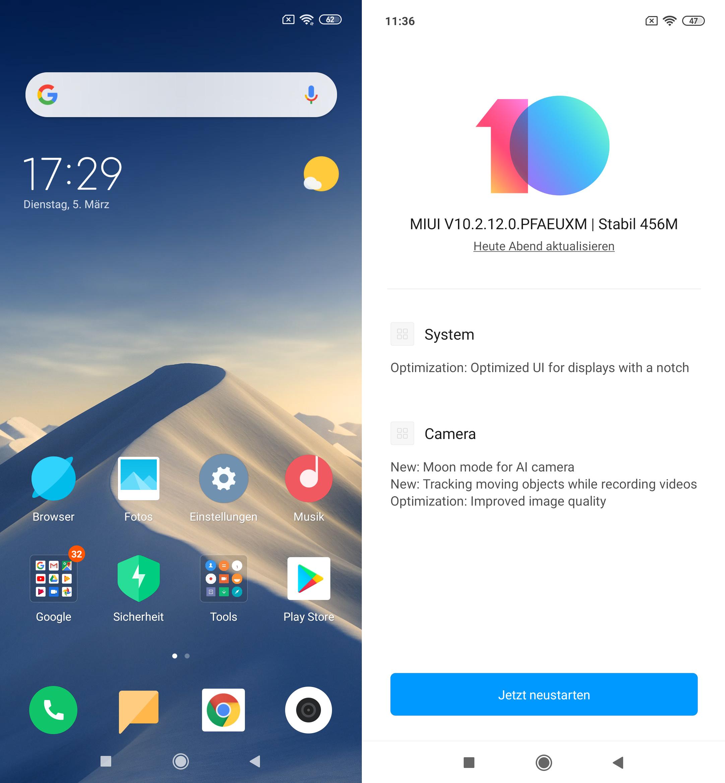 Xiaomi Mi 9 MIUI Update