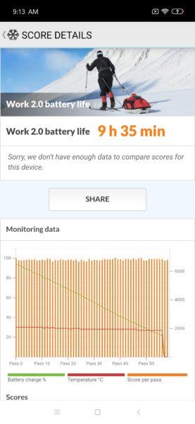 Xiaomi Mi 9 SE Akkubenchmark