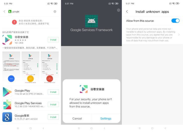 Xiaomi Mi 9 SE Google Play Store Installieren
