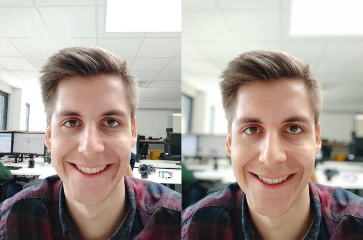 Xiaomi Mi 9 SE Testfoto Frontkamera Portrait Vergleich