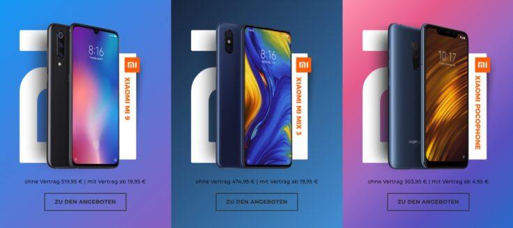 Xiaomi Smartphones bei Handyflash