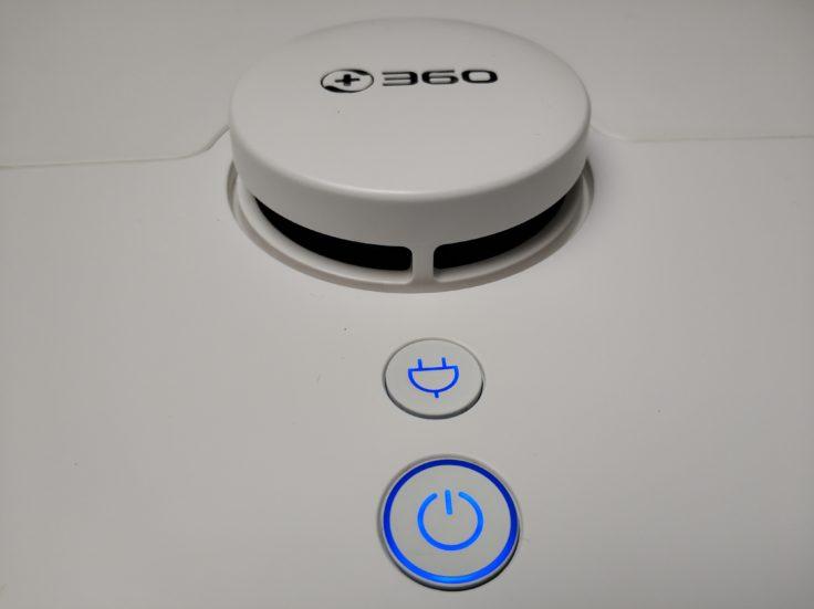 360 S5 Saugroboter Bedienelemente LEDs