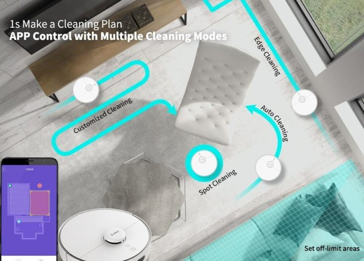 360 S5 Saugroboter Reinigung Mapping Plan erstellen