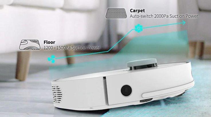 360 S5 Saugroboter Saugkraft Untergrunderkennung Teppicherkennung