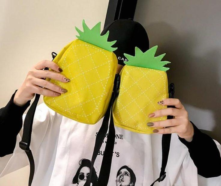 Ananas-Handtasche-Größen